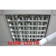 Светильник потолочный + 4шт. LEDT8 9W